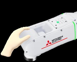 MELFA Assista je potpuno kolaborativni robot. Robotska ruka omogućuje ručno navođenje u željenu poziciju i brzo menjanje robotske aplikacije bez naprednog znanja robotskog programiranja.